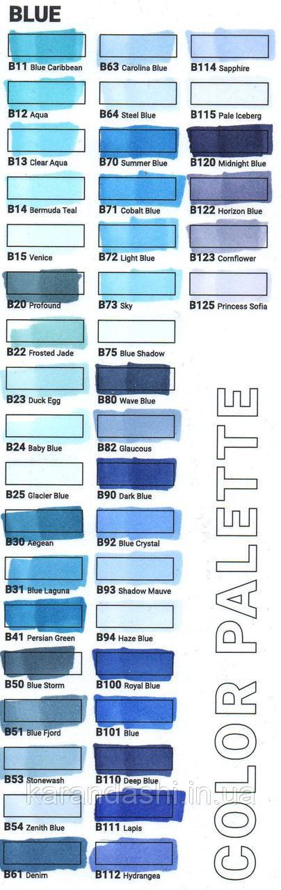 Маркер SKETCHMARKER Тонкий-Скошенный наконечник B011 Blue Caribbean Карибский синий