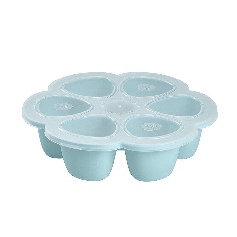 Beaba - Силиконовый многопорционный контейнер 90 ml, blue