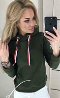 Теплая кофта женская с капюшоном 005D/02