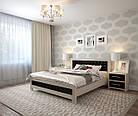 Ліжко півтораспальне з натурального дерева в спальню, дитячу Фортуна 140*200 (Дуб) АРТ меблі, фото 2