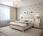 Ліжко півтораспальне з натурального дерева в спальню, дитячу Фортуна 140*200 (Дуб) АРТ меблі, фото 3