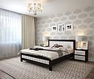 Ліжко півтораспальне з натурального дерева в спальню, дитячу Фортуна 140*200 (Дуб) АРТ меблі, фото 4