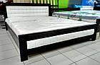 Ліжко півтораспальне з натурального дерева в спальню, дитячу Фортуна 140*200 (Дуб) АРТ меблі, фото 5