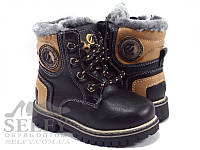 Ботинки детские для мальчика Clibee H96A black 21-26