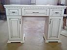Туалетний будуарний столик з дерева в спальню Еліт в кольорі (Дуб) АРТ меблі, фото 3