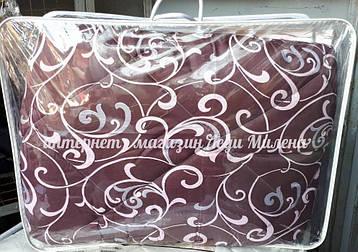 Зимнее хлопковое одеяло из овечьей шерсти двухспальное оптом и в розницу, фото 2