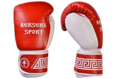 Перчатки БОКС BERSERK (кожа) red