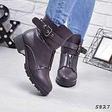 """Ботинки, ботильоны капучино ЗИМА """"Shirley"""" эко кожа, повседневная, зимняя, теплая, женская обувь, фото 3"""