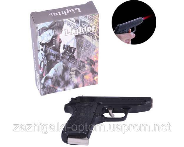 Зажигалка пистолет с ножом Walther PPK 4967 Black (Турбо пламя)