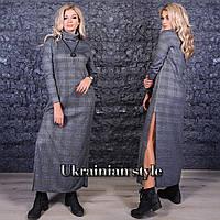 Трикотажное женское платье-гольф в пол с разрезами. Цвета!, фото 1