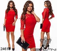 Нарядное облегающее платье футляр Balani вставка сетка раз. 42,44,46