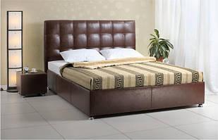 Ліжко з підйомним механізмом з м'якою спинкою в спальню Лугано 2 140х200 НСТ Альянс