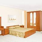 Ліжко з ДСП/МДФ в спальню 2-сп (б/матрасу, та каркаса) Кім горіх Світ Меблів, фото 2