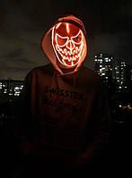 Светящаяся маска тыквы страшная  (LED mask). Супер качество! Маска тыквы на Хэллоуин.