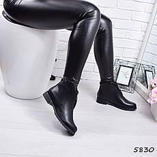 """Ботинки, ботильоны черные демисезонные """"Kate"""" эко кожа, повседневная,осенняя, женская обувь, фото 3"""