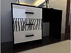 Столик будуарний туалетний з ДСП/МДФ в спальню Бася Нова нейла глянець Світ Меблів, фото 2