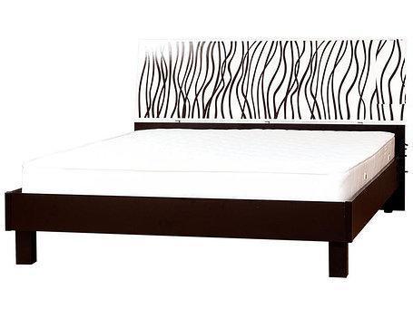 Ліжко з ДСП/МДФ в спальню 2-сп (1,6) (б/матрасу та каркаса) Бася Нова нейла глянець Світ Меблів