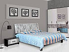 Ліжко з ДСП/МДФ в спальню 2-сп (1,6) (б/матрасу та каркаса) Бася Нова нейла глянець Світ Меблів, фото 2