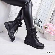 """Ботинки, ботильоны черные ЗИМА """"Ruby"""" эко кожа, повседневная, зимняя, теплая, женская обувь, фото 3"""