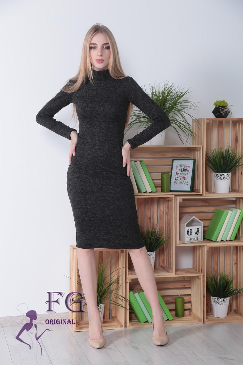 """Платье-гольф из ангоры """"Crystall"""" НОРМА черный, 48"""