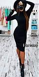 """Сукня-гольф з ангори """"Crystall"""" НОРМА чорний, 48, фото 4"""