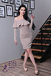 """Женское платье миди """"Rihanna"""" из ангоры 42-48р. 42, пудровый, фото 2"""