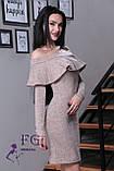 """Женское платье миди """"Rihanna"""" из ангоры 42-48р. 42, пудровый, фото 3"""
