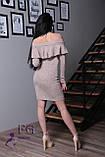 """Женское платье миди """"Rihanna"""" из ангоры 42-48р. 42, пудровый, фото 5"""