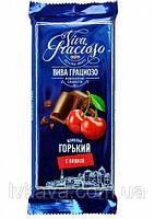 Шоколад горький (черный)  Viva Gracioso Спартак с вишней, 90 гр