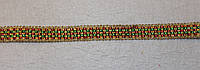Тесьма декоративная люрекс трёхцветная 6152