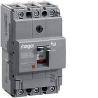 Автоматический выключатель x160, 63А, 3п, 18kA, Тфикс./Мфикс, Hager