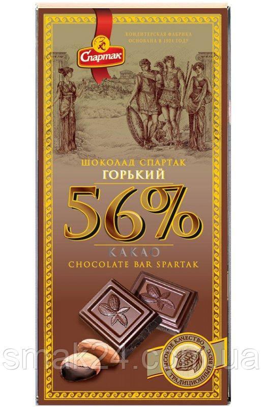 Черный шоколад Спартак горький Элитный 56 % , 90 г Беларусь
