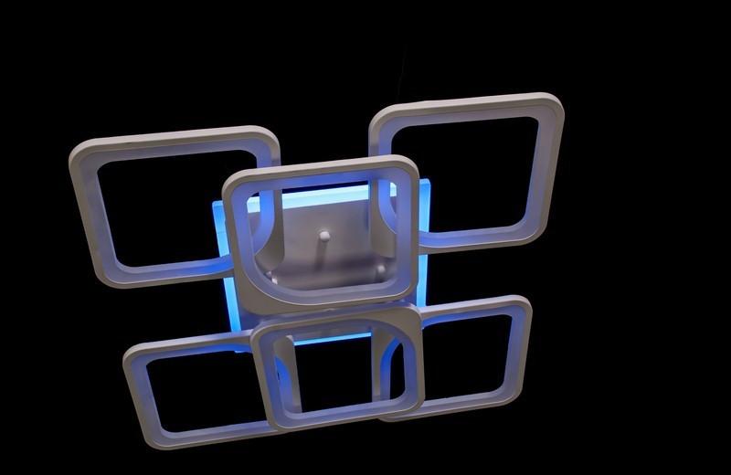 Припотолочная яркая светодиодная люстра 5543/4+2 LED