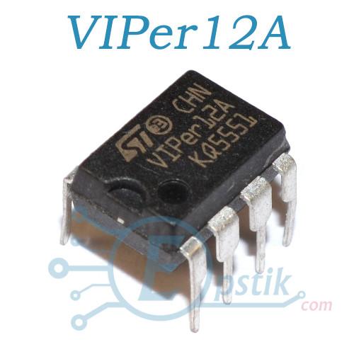 VIPER12A, преобразователь переменного тока в постоянный , DIP8