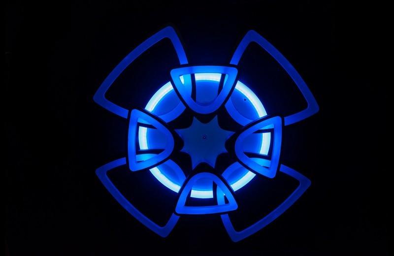 Люстра потолочная для гостинной 5548/4+4 WH LED dimmer