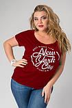 """Женская футболка """"Big Apple"""" - норма Распродажа, фото 2"""
