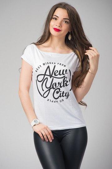 """Женская футболка """"Big Apple"""" - норма Распродажа"""