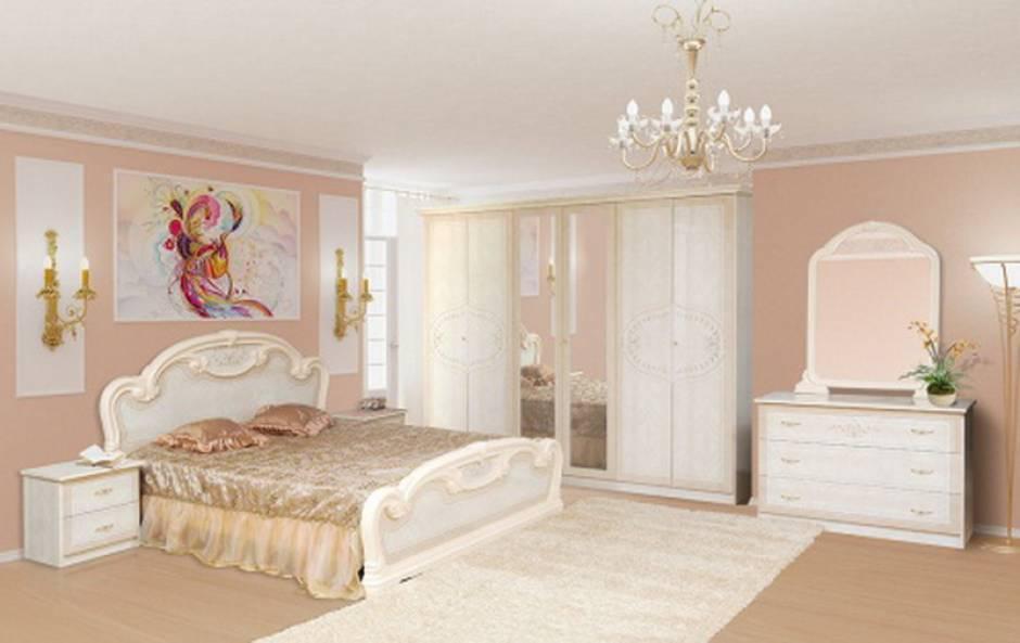 Спальня комплект з ДСП/МДФ 6Д Опера троянда Світ Меблів