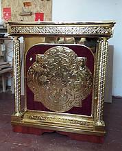 Православный жертвенник с чеканкой и бархатом (неразборный)