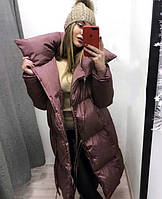 Зимняя куртка женская теплая длинная