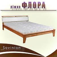 Ліжко двоспальне з натурального дерева в спальню Флора 160*200 Sovinion