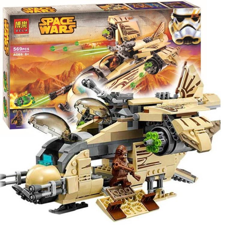 """Конструктор Bela 10377 Star Wars """"Боевой корабль Вуки"""" 569 деталей"""