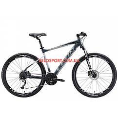 """Горный велосипед Leon XC-70 27,5"""" дюймов 18"""" серо-черный"""