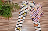 Трикотажные легинсы для девочек 98-128 см, фото 1