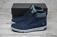 Мужские зимние ботинки Timbеrland  (Реплика) (Код: Б 33 син  ) ►Размеры [40,41,42,43,44,45], фото 1