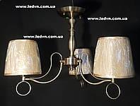Классическая потолочная люстра абажурами на 3 ламп бронза, фото 1