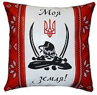 Подушка сувенирная патриотическая с трезубцем