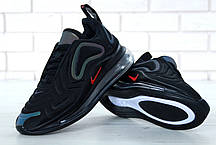 Кроссовки мужские Найк Nike Air Max 720 Black/White. ТОП Реплика ААА класса., фото 2