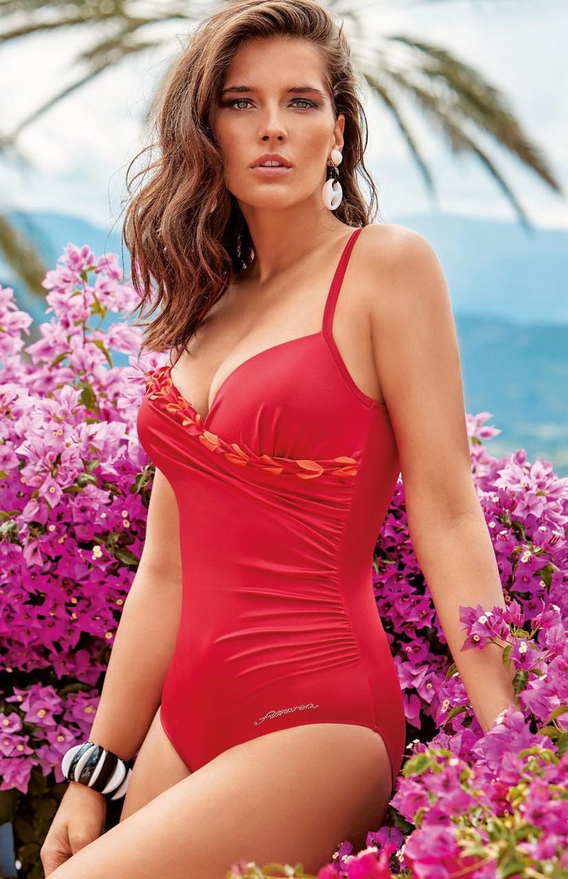 4978da37db5b Красный совместный купальник для женщин Amarea 19121 50 Красный Amarea 19121