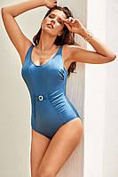 Сплошной женский купальник, большой размер Amarea 19154 52 Синий Amarea 19154
